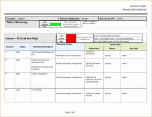 Schedule Template Project Status Report Excel Software throughout Testing Daily Status Report Template