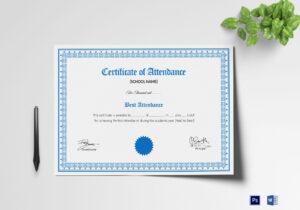 School Attendance Certificate Template regarding Attendance Certificate Template Word