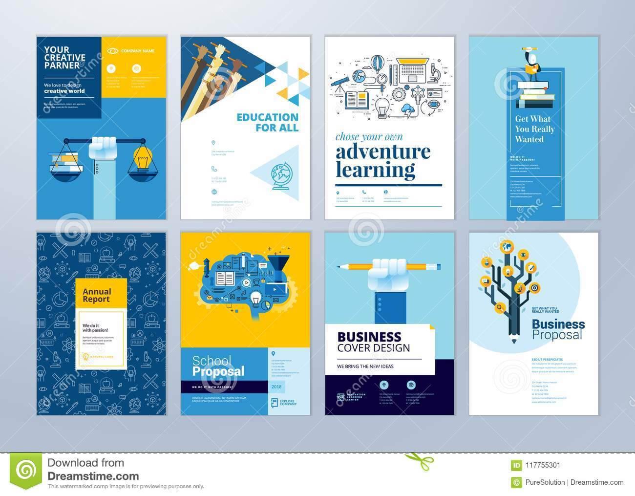 School Brochure Design Templates Free Download Set With School Brochure Design Templates
