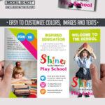 School – Free Psd Tri Fold Psd Brochure Template On Behance Throughout Play School Brochure Templates