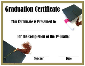 School Graduation Certificates | Customize Online With Or intended for Promotion Certificate Template