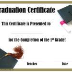 School Graduation Certificates | Customize Online With Or Within 5Th Grade Graduation Certificate Template