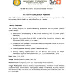 School Monitoring, Evaluation And Adjustment  Activity With Regard To Monitoring And Evaluation Report Template