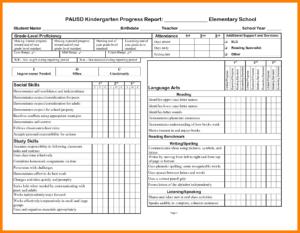 School Progress Report Template Doc Elementary Ample Pdf throughout School Progress Report Template
