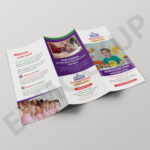 School Tri Fold Brochure Template | Eymockup Regarding Tri Fold School Brochure Template