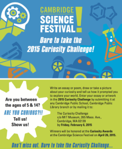 Science Fair Flyer | Cambridge Science Festival | 2015 for Science Fair Banner Template