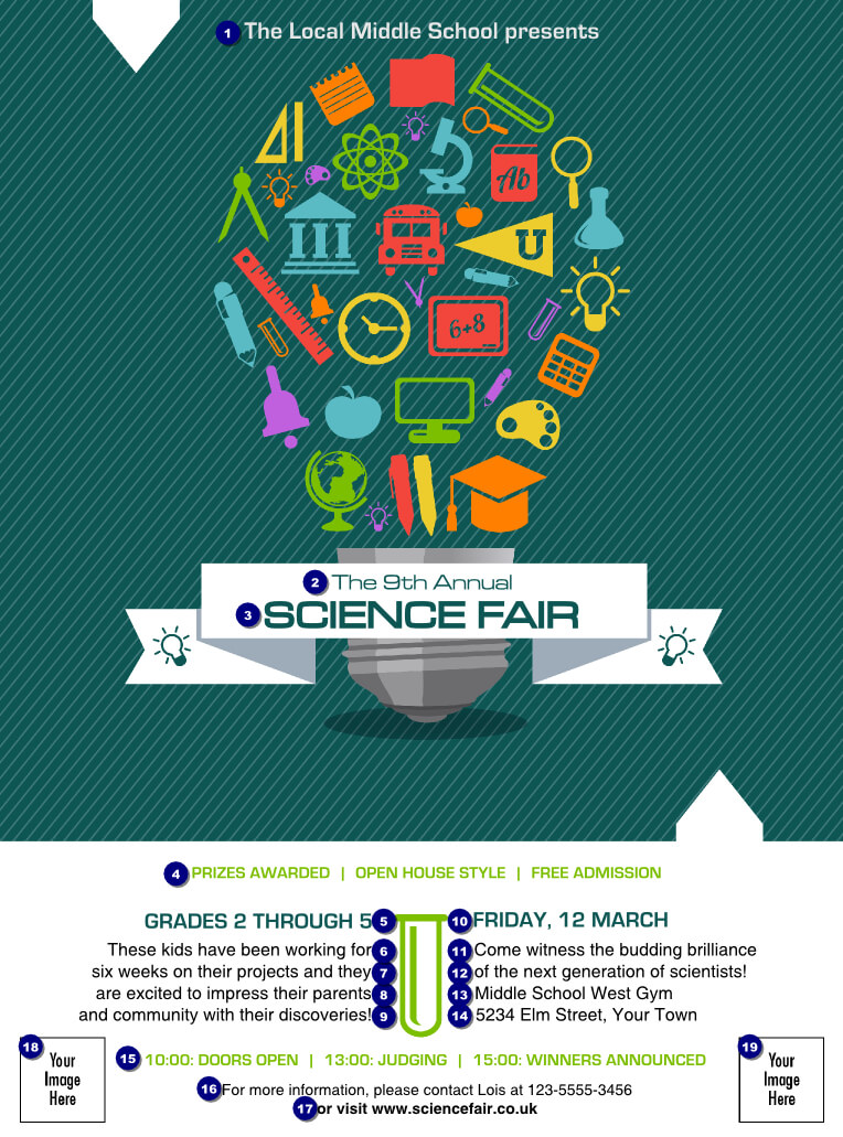 Science Fair Flyer | Flyer Design | Science Fair Poster Throughout Science Fair Banner Template