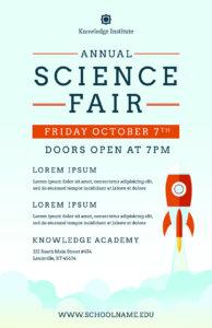 Science Fair Flyer Template (Psd + Docx) inside Science Fair Banner Template