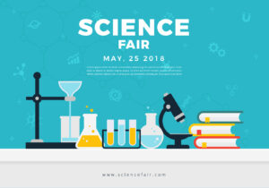 Science Fair Poster Banner - Download Free Vectors, Clipart in Science Fair Banner Template