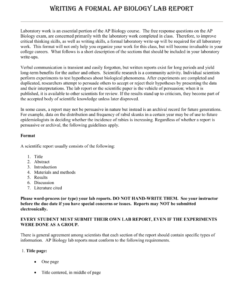 Science Lab Report Template – Pc Mac in Science Experiment Report Template