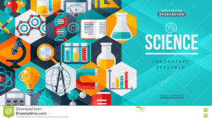 Science Laboratory Research Creative Banner Stock Vector within Science Fair Banner Template