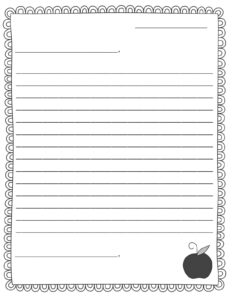 Second Grade Letter Writing Paper | Mamiihondenk for Blank Letter Writing Template For Kids