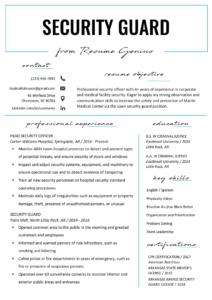 Security Guard Resume Sample & Writing Tips | Resume Genius throughout Running Certificates Templates Free