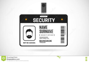 Security Id Card Set Vector Design Illustration Stock Vector with regard to Photographer Id Card Template
