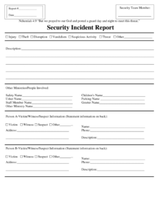 Security Incident Report Form Sample Template Word Response pertaining to Incident Report Form Template Word