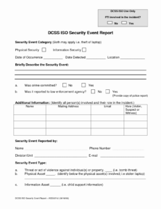 Security Officer Incident Report Example Guard Format for Best Report Format Template