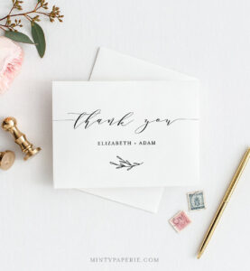 Self-Editing Thank You Template, Folded Thank You Note within Thank You Note Card Template