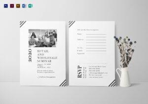 Seminar Invitation Card Template throughout Seminar Invitation Card Template