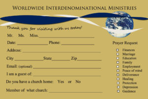 Send Your First Time Church Visitor A Followup Letter for Church Visitor Card Template