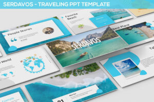 Serdavos – Traveling Powerpoint Template #travel, #vacation with regard to Powerpoint Templates Tourism