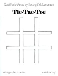 Serving Pink Lemonade: Quiet Book Games Part 3: Tic Tac Toe inside Tic Tac Toe Template Word