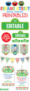 Sesame Street Birthday Printables – Including Editable throughout Sesame Street Banner Template