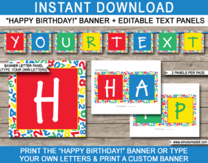 Sesame Street Party Banner Template pertaining to Sesame Street Banner Template