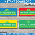 Sesame Street Party Food Labels Template For Sesame Street Banner Template