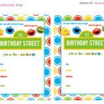 Sesame Street Printable Invitation Diy Fill In The Blank Throughout Sesame Street Banner Template