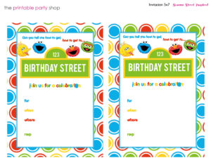 Sesame Street Printable Invitation Diy Fill In The Blank throughout Sesame Street Banner Template