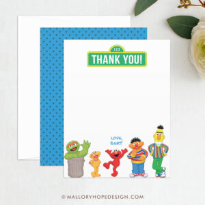 Sesame Street Thank You Template – Sesame Street Birthday Thank You, Elmo  Thank You, Kids Thank You, Digital File Template, Instant Download regarding Sesame Street Banner Template