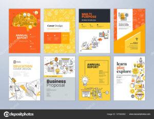 Set Brochure Design Templates Subject Education School throughout Brochure Design Templates For Education