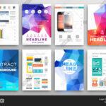 Set Flyer, Brochure Vector & Photo (Free Trial)   Bigstock With Regard To Online Free Brochure Design Templates