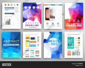 Set Flyer, Brochure Vector & Photo (Free Trial) | Bigstock with regard to Online Free Brochure Design Templates