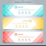 Set Of Banner Web Templates Geometric Header For Free Website Banner Templates Download