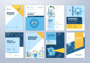 Set Of Brochure Design Templates On The Subject Of Education,.. inside Brochure Design Templates For Education