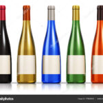 Set Of Color Glass Wine Bottles — Stock Photo © Scanrail In Blank Wine Label Template