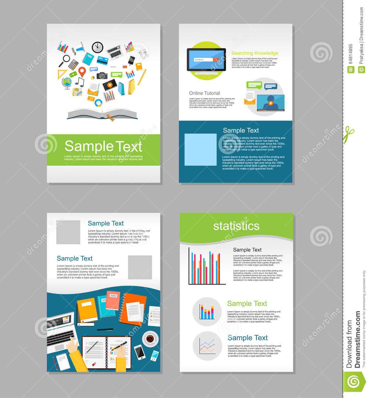 Set Of Flyer. Brochure Design Templates. Education Regarding E Brochure Design Templates