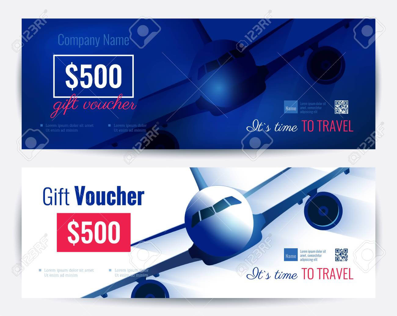Set Of Gift Travel Voucher Template. Gift Certificate For A.. Intended For Free Travel Gift Certificate Template