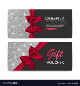 Set Of Gift Voucher Card Template Advertising Or with regard to Advertising Card Template