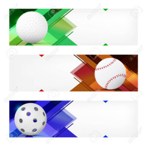 Set Of Sport Banner Templates With Ball And Sample Text In Separate.. with regard to Sports Banner Templates