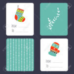 Set Of Winter Small Card Templates. Collection For Christmas.. regarding Small Greeting Card Template