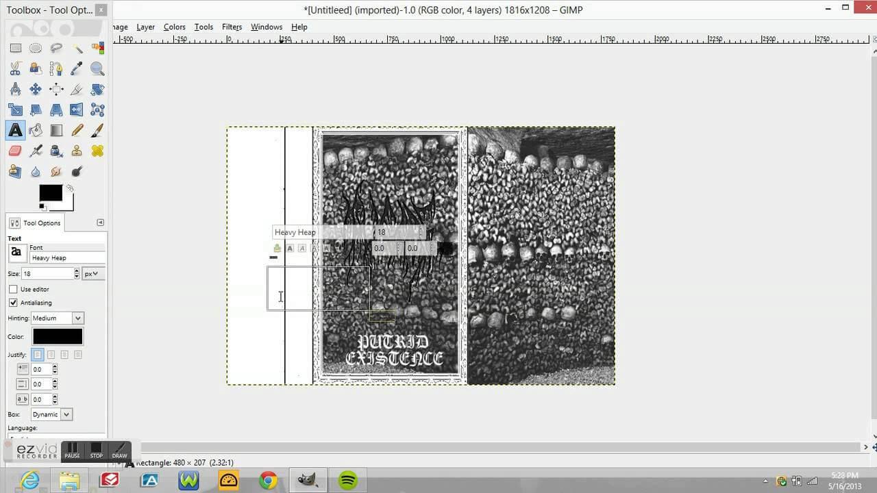 Setting Up A Cassette Layout For A Demo Tape (Diy Demo) Regarding Cassette J Card Template