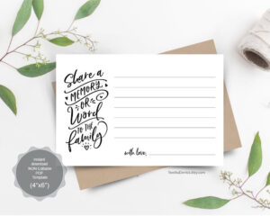 Share A Memory Card, Instant Download Printable Pdf Template intended for In Memory Cards Templates
