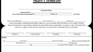 Share Certificate Templates | 3+ Free Printable Ms Word Formats throughout Corporate Share Certificate Template