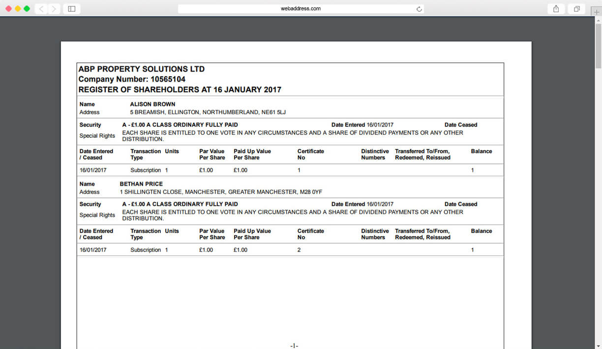 Share Certificates | Thecompanywarehouse.co.uk For Share Certificate Template Companies House