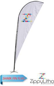 Shark Fin Flag | Zippy Litho inside Sharkfin Banner Template