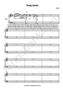 Sheet Music Sample Pdf Cue Template For Pages Word Guitar in Blank Sheet Music Template For Word