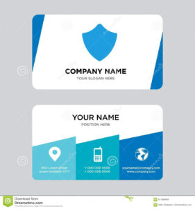 Shield Business Card Design Template, Visiting For Your throughout Shield Id Card Template