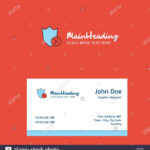 Shield Logo Design With Business Card Template. Elegant For Shield Id Card Template